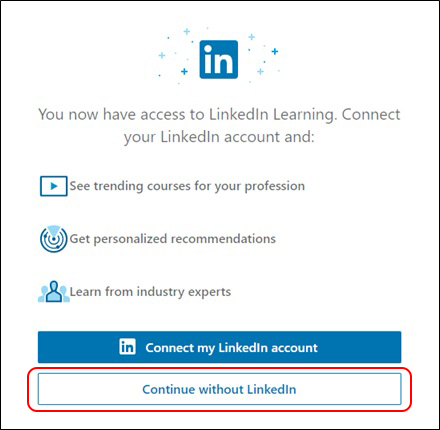 Connect to LinkedIn