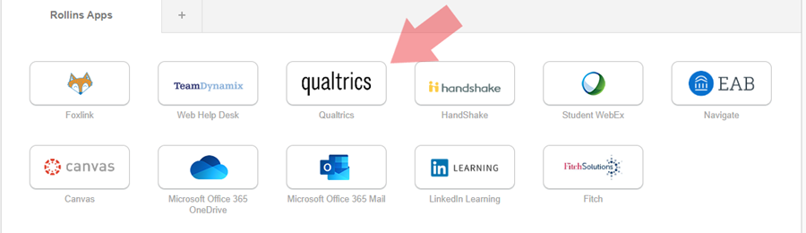 black and white tiles that says qualtrics